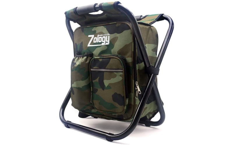 Zology Folding Camping Chair Backpack