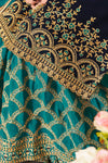 Berry Blue and Sapphire Blue Red Georgette Sharara Suit