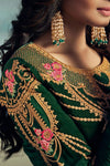 Green Dual Tone Embroidered Sharara Suit