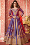 Blue Designer Slit Cut Anarkali Suit