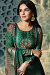 Green Dual Tone Georgette Sharara Suit