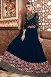 Midnight Blue Multi Embroidered Party Wear Anarkali Suit