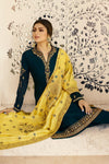 Navy Blue Designer Embroidered Straight Suit