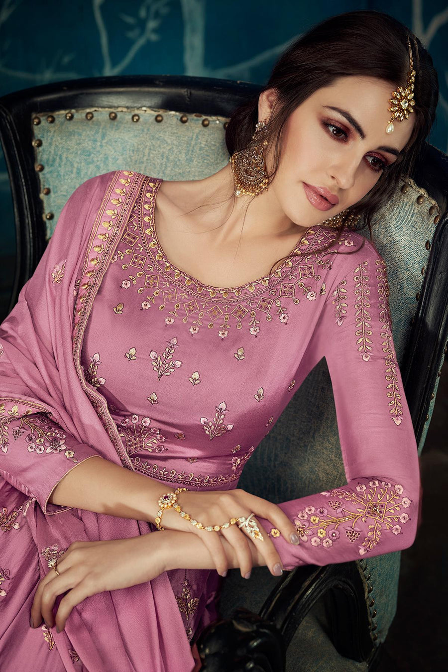 Onion Pink Designer Anarkali Suit
