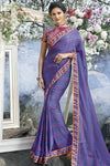 Purple and Maroon Fancy fabric Saree