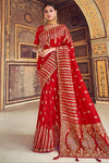 Red Designer Wedding Silk Sari