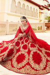 Candy Red Satin Silk Party Wear Lehenga Choli