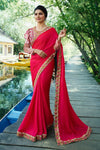 Rose Shade Silk Saree Full-Bodied Blouse
