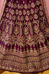 Purple sparkle silk heavy embroidered Lehenga Set