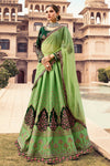 Olive Green and Pine Green Party Wear Lehenga Choli