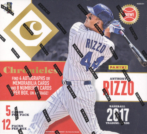 2017 Panini Chronicles Baseball Hobby Box (PYT) Break #620K + GIVEAWAY!