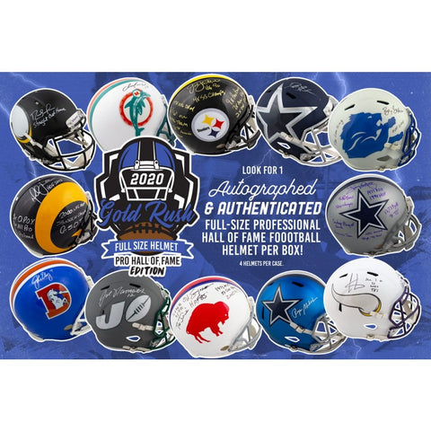 2020 Gold Rush Autographed Full Size Helmet (PYT/PLAYER) Pro Hall of Fame Edition Box Break 2A (READ)