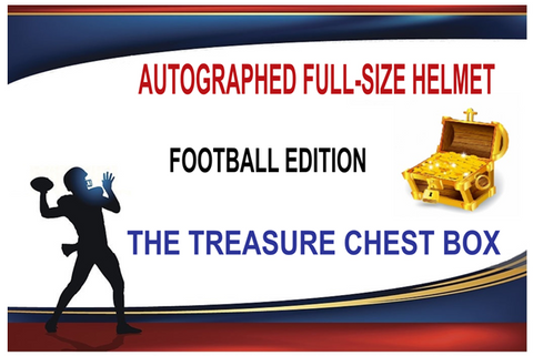 The Exclusive Treasure Chest Autographed Football Full Size Helmet Box (PYT) Break #360K + GIVEAWAY!