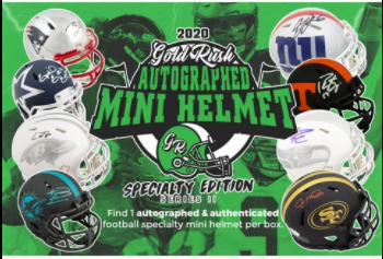 2020 GOLD RUSH AUTOGRAPHED MINI HELMET FOOTBALL SPECIALTY EDITION SERIES 2 (PYT) 2 BOX BREAK #3Z