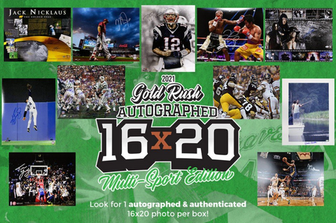 2021 Gold Rush Autographed 16x20 Multi-Sport Edition Checklist Box Break #1P