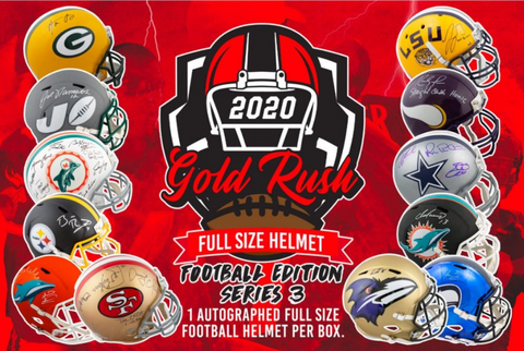 2020 Gold Rush Autographed Full-Size Football Helmet Series-3 1 Box Break #1 Snake Draft (READ)