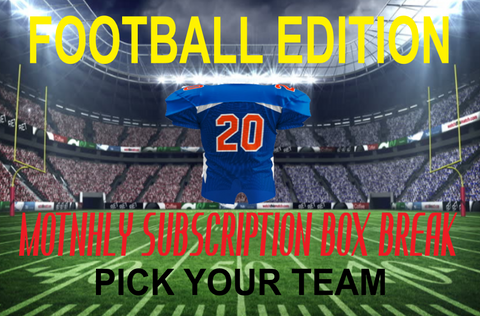 MONTHLY FOOTBALL (PYT) BOX BREAK SUBSCRIPTION (JULY 2020)