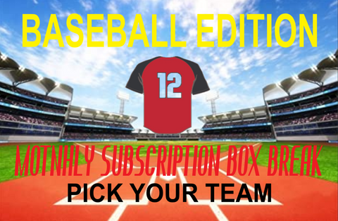 MONTHLY BASEBALL (PYT) BOX BREAK SUBSCRIPTION (JULY 2020)