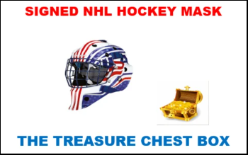 THE TREASURE CHEST AUTOGRAPH HOCKEY HELMET BOX BREAK (RANDOM TEAMS) #28A