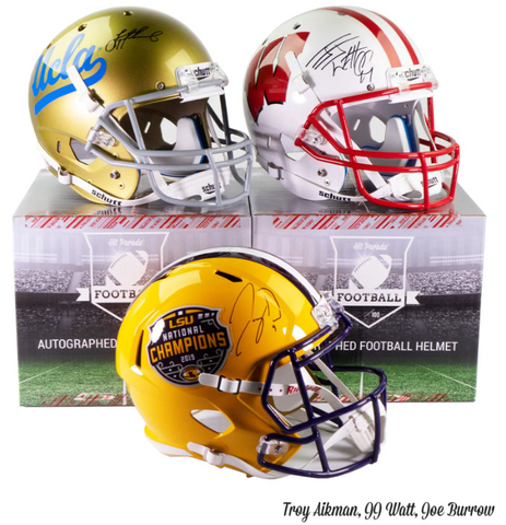 2020 Hit Parade Autographed Full-Size College (PYD) Football Helmet Hobby Box #1M