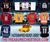 THE TREASURE CHEST BOX AUTOGRAPHED HOCKEY JERSEY (PYT) 5 BOX BREAK #12A + 4 GIVEAWAYS!