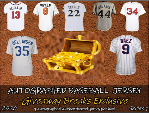 2020 The Treasure Chest Box Autographed Baseball Jersey (PYT) 5 BOX Break #11A + 4 Giveaways!