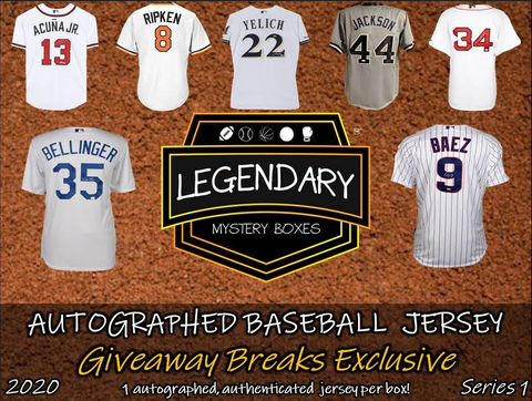 2020 Legendary/TTCB Autographed Baseball Jersey Giveawaybreaks Exclusive Edition (PYT) 5 BOX Break #9A + 4 Giveaways!