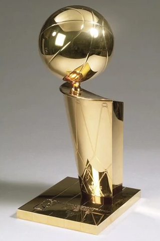 THE TREASURE CHEST BOX (RANDOM TEAMS) AUTOGRAPHED BASKETBALL REPLICA TROPHY/ 2020 LEAF 8X10 SLAPPED PHOTO BREAK #3A
