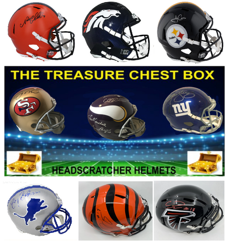 The Treasure Chest Full Size Football Headscratchers Helmet (PYT) Box Break #25L