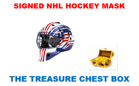 THE TREASURE CHEST AUTOGRAPH HOCKEY HELMET BOX BREAK (RANDOM TEAMS) #16A