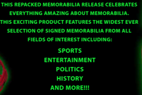 (PRESELL) 2019 The WOW Memorabilia Treasury (HIT DRAFT) Box Break 102A!