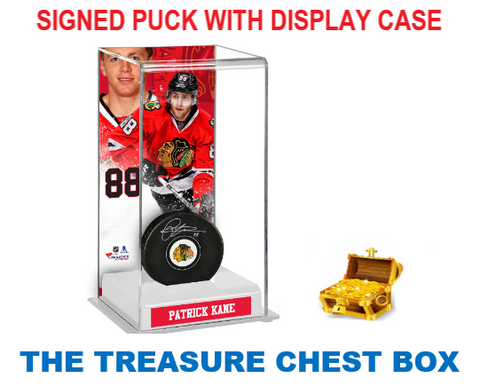 THE TREASURE CHEST AUTOGRAPH HOCKEY PUCK/DISPLAY BOX BREAK (RANDOM TEAMS) #203A