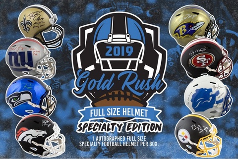 2019 Gold Rush Autographed Full Size Football Helmet Specialty Edition (PYT) Break #1L
