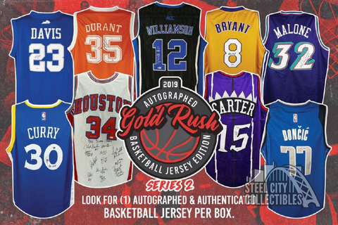2019 GOLD RUSH AUTOGRAPHED BASKETBALL JERSEY (PYT) BOX BREAK #105J!