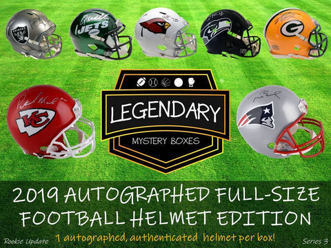 2019 Legendary Autographed Full Size Football Helmet Edition (PYD) Break #10A