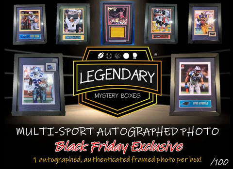 2019 Legendary Black Friday Multi-Sport Autographed Framed Photo (LAST NAME LETTER BREAK) #5K