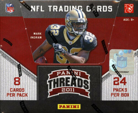 2011 Panini Threads Football HOBBY (PYT) 3 BOX BREAK #1K