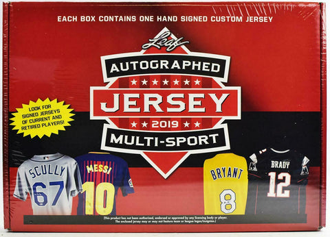 2019 Leaf Autographed Jersey Multi-Sport Edition Serial Number Box Break #2K