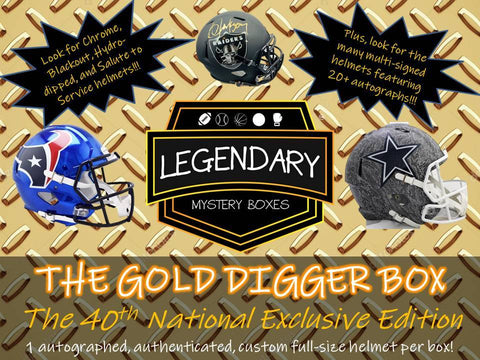 2019 Gold Digger Autographed Full Size Football Helmet (PYT) Box Break #51A!