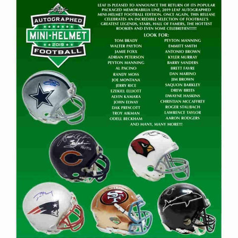 2019 Leaf Autographed Mini Helmet Football (Random Team) Box Break #105A!