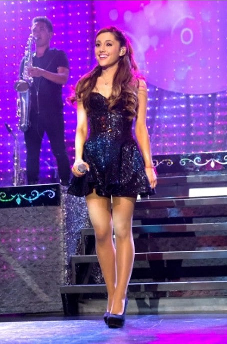 Ariana Grande Sparkly Dress Black Spaghetti Straps Sequin Short Prom Dress Listening Sessions Celebrity Formal Dress