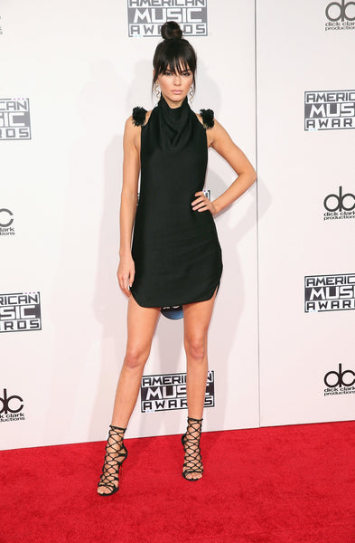 Kendall Jenner Black Dress Short Classic Prom Celebrity Evening Dress American Music Awards Red Carpet