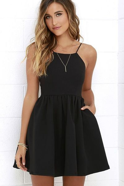 Black Straps Homecoming Dresses,Prom Short Cute Homecoming Dresses