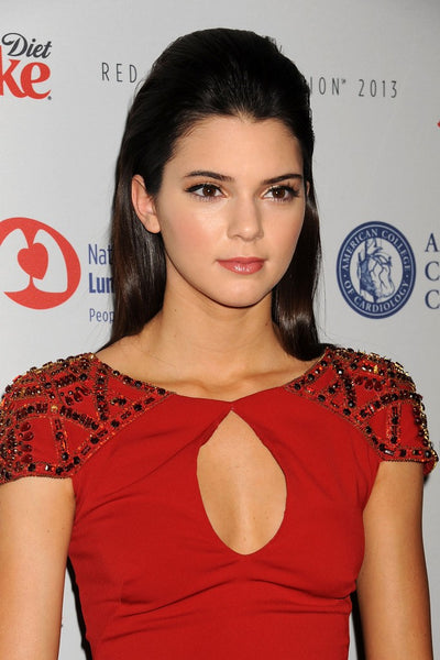 Kendall Jenner Red Dress Keyhole Cap Sleeves Sequins Bodycon Prom Celebrity Dress The Heart Truth Fashion Show Red Carpet