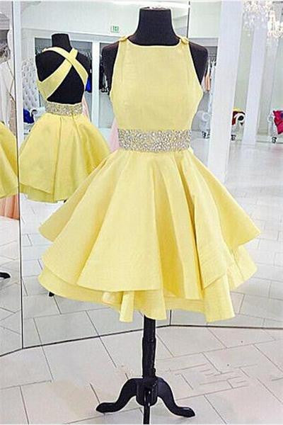 Yellow Homecoming Dress, Dress for Homecoming