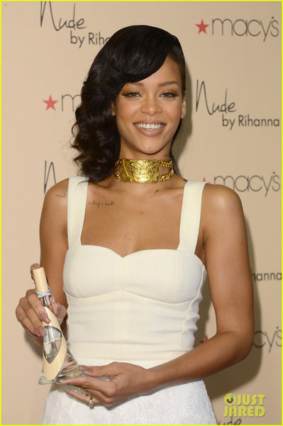 Rihanna white Lace Dress Patchwork Prom Nude by Rihanna Fragrance Launch Red Carpet A Line Dress