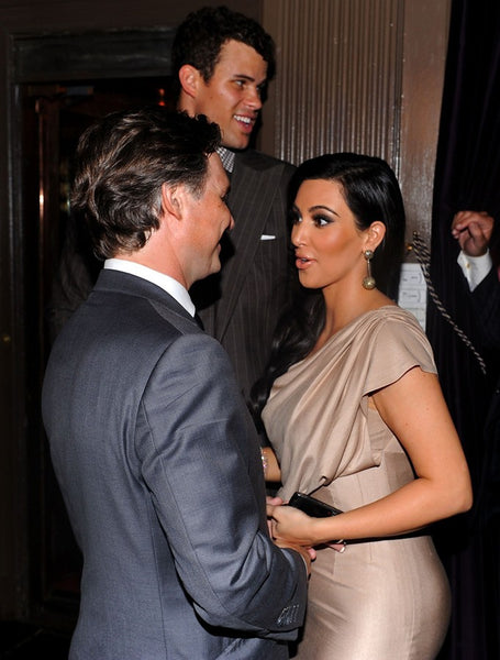 Kim Kardashian Champagne Dress Sleek Figure-hugging Prom Outfit A Night of Style & Glamour Celebrity Dress