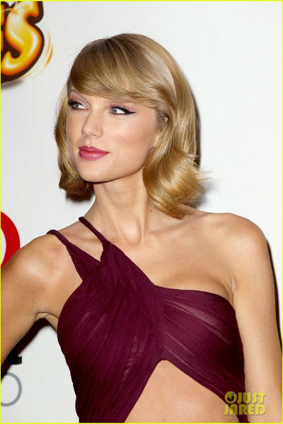 Taylor Swift Asymmetrical Dress Burgundy One Shoulder Prom Ball Gown Jingle Ball Red Carpet Dress