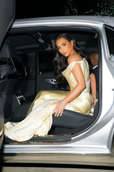 Kim Kardashian Champagne Wedding Dress Off The Shoulder Prom Ball Gown Diddy's 50th Birthday Party Dress