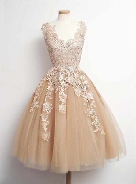 Tulle Lace Homecoming Dress, Straps Homecoming Dresses Free Fast Shipping